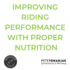 Improving Riding Performance with proper nutrition – Peter Šmanjak
